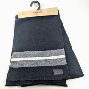 Levi's Scarf Simple Black with Levi's Patch NWT